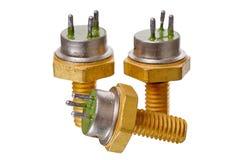 Three power transistor Stock Image