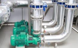 Three powerful pumps Stock Photos