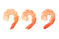 Three prawns Royalty Free Stock Photography