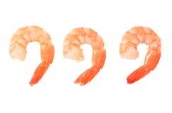 Three prawns Royalty Free Stock Photography