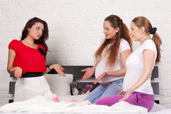 Three pregnant girlfriend Royalty Free Stock Photography