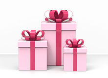 Three present boxes Royalty Free Stock Image