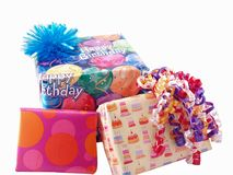 Three presents Royalty Free Stock Photos