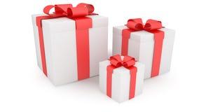 Three presents Royalty Free Stock Image