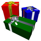 Three Presents Stock Photography