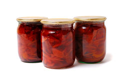 Three preserve of quince jam Stock Photography