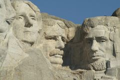 Three Presidents at Mount Rushmore National Memori Stock Photo