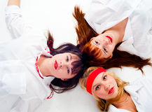 Three pretty girls Royalty Free Stock Images