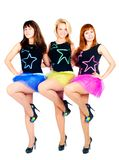 Three pretty girls dancing Royalty Free Stock Photo