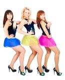 Three pretty girls dancing Stock Photo