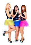 Three pretty girls dancing Royalty Free Stock Photos