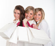 Three pretty shoppers Stock Photo
