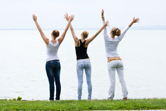Three pretty young girls Stock Image