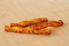 Three Pretzels Stock Photo