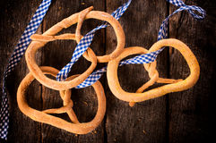 Three pretzels Stock Images