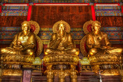 Three principle chinese Buddhist Stock Images