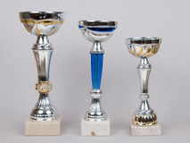 Three prize cup Royalty Free Stock Photography