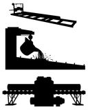 Three productions silhouettes Royalty Free Stock Image