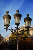Three pronged Lantern against the Blue Sky. In Paris France Royalty Free Stock Photos
