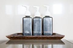 Three pump bottles Stock Photography