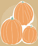 Three Pumpkin Harvest Stock Images