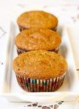 Three pumpkin muffins Stock Image
