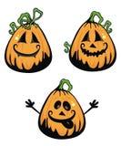 Three pumpkins Royalty Free Stock Photography