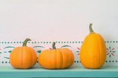 Three Pumpkins Stock Image