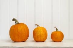Free Three Pumpkins Royalty Free Stock Image - 42771236