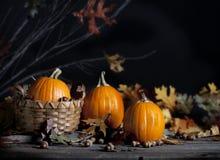 Free Three Pumpkins Royalty Free Stock Photography - 77637177