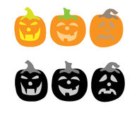 Three pumpkins concept. Royalty Free Stock Image