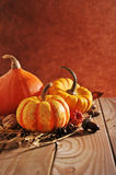 Three pumpkins Royalty Free Stock Images