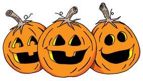 The Three Pumpkins Royalty Free Stock Photos