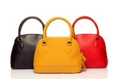 Three purses on white Stock Photography