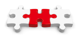 Three puzzle pieces  2 Stock Photography