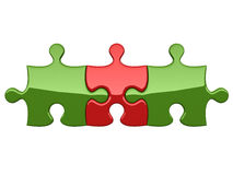 Three puzzles Stock Photo