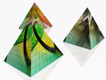 Three pyramides Stock Photos