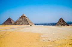 Three pyramids in Egypt. Stock Images