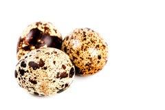 Three quail eggs Royalty Free Stock Image