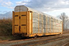 Excess Height Rail Car Stock Photography