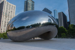 Three Quarter View of The Bean. May 26, 2016: Three Quarter View of the Bean in Chicago's Park district Royalty Free Stock Photos