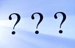 Three question marks Stock Image