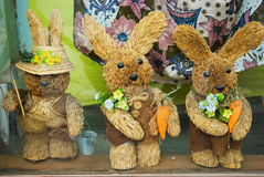 Three Rabbit. In the showcase Stock Image