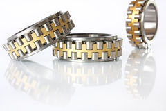 Three radial-thrust bearing Stock Image