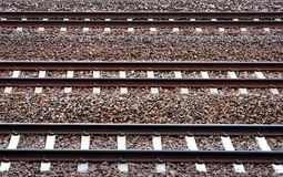 Three railway tracks Stock Image