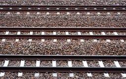 Three railway tracks Stock Image