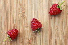 Three raspberry Royalty Free Stock Images
