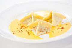 Served ravioli Royalty Free Stock Photo