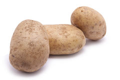 Three Raw Potatoes Royalty Free Stock Images