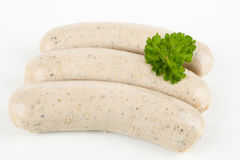 Three raw sausage Royalty Free Stock Image